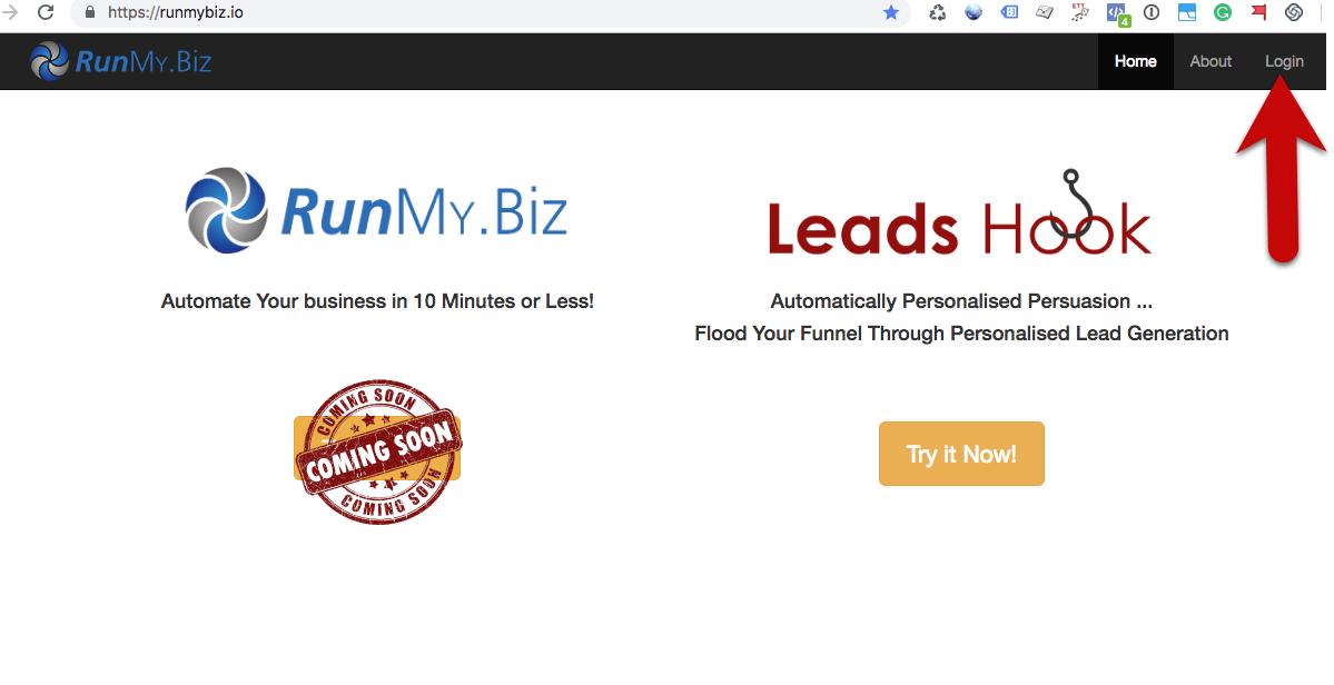 Leadshook login