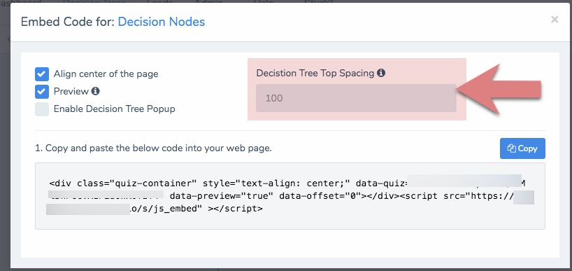 How to Adjust Your Embedded Decision Tree When Your Page Has